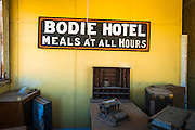 The Bodie Hotel office, Bodie State Historic Park, California USA