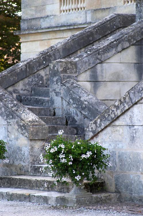 Monumental stairs. Chateau La Louviere, Pessac Leognan, Graves, Bordeaux, France