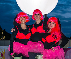 Pictured: Moonwalk Scotland, Edinburgh, Scotland, United Kingdom, 08 June 2019. The 14th Moonwalk Scotland 'Walk the Walk' night-time event with several thousand participants wearing specially decorated bras choose between New Moon (6.55 Miles), Half Moon Marathon (13.1 Miles), Full Moon Marathon (26.2 miles) and Over The Moon (52.4 Miles) to raise money and awareness for breast cancer causes.<br /> <br /> Sally Anderson | EdinburghElitemedia.co.uk