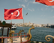 The Eminonu district opposite the Galata tower, on the shore of the Golden horn.