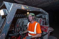 A Joy shuttle car in Boulby Potash mine