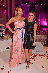 Left to right, Laura Pradelska and Zoe Hardman at the Floral Ball in aid of Sheba Medical Center hosted by Laura Pradelska and Zoe Hardman and held at One Marylebone, 1 Marylebone Road, London England. 14 March 2017.