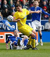Photo: Steve Bond/Richard Lane Photography. Leicester City v Cardiff City. Coca Cola Championship. 13/03/2010. Anthony Gerrard clears