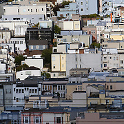 Homes that line Lombard Street in the Russian Hill neighborhood.