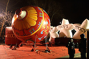 Macy's Balloons at The Macy's Balloon Inflation session held at West 79th and Central Park West on November 26, 2008 in New York City..A tradition since 1927, the giant character balloons are slowly blown up and brought to life in the streets around the American Museum of Natural History. The enormous balloons take up two full city blocks. Nets and sandbags are used to keep the balloons from escaping during the night.