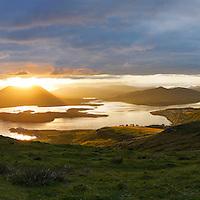 Mystical Sunrise over Valentia Island and Cahersiveen, County Kerry, Ireland / vl168