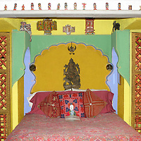 North America, Mexico, Guanajuato. Rajasthani Suite at Inn of hte Happy Spirits.