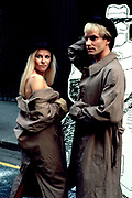 Sting and Pamela Stephenson photographed promoting The Secret Policeman's Ball in the early 1980's.