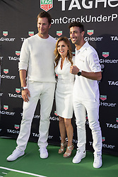 Tom Brady, Geri Halliwell, Daniel Ricciardo attend the Tag Heuer gala night (Don't crack under pressure) aboard a boat at Port Hercule during the 76th Grand Prix of Monaco in Monaco, on may 26, 2018. Photo by Marco Piovanotto/ABACAPRESS.COM