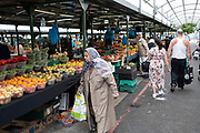 More and more people begin to come to the city centre, seen here at the open market on 3rd August 2021 in Birmingham, United Kingdom. The Open Market offers a huge variety of fresh fruit and vegetables, fabrics, household items and seasonal goods. The Bull Ring Open Market has 130 stalls.