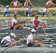Lucerne, SWITZERLAND, POL M8+ before the  the start, of the third round of the  2009 FISA World Cup,  on the Rottsee regatta Course, Friday  10/07/2009 [Mandatory Credit Peter Spurrier/ Intersport Images].
