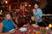 Hat Choeng Mon (beach). The beachside restaurant at Imperial Boat House Hotel.