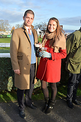 VICTORIA VON WESTENHOLZ and TOM McCALL at the 2013 Hennessy Gold Cup at Newbury Racecourse, Berkshire on 30th November 2013.