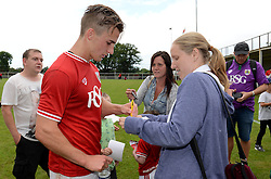 Joe Bryan of Bristol City signs autographs - Photo mandatory by-line: Dougie Allward/JMP - Mobile: 07966 386802 - 05/07/2015 - SPORT - Football - Bristol - Brislington Stadium - Pre-Season Friendly