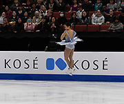 Mai Mihara from Japan - Ranking 3rd place with 207.12 Points for the Ladies Free Skating Program during the ISU - Four Continents Figure Skating Championships, at the Honda Center in Anaheim California, February 5-10, 2019