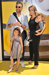 """Jaime Camil, Heidi Balvanera and Kids arrives at the """"Despicable Me 3"""" Los Angeles Premiere held at the Shrine Auditorium in Los Angeles, CA on Saturday, June 24, 2017.  (Photo By Sthanlee B. Mirador) *** Please Use Credit from Credit Field ***"""