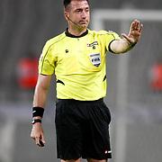Referee's Huseyin Gocek during their Turkish soccer superleague match Orduspor between Eskisehirspor at the Ataturk Olympic stadium in Istanbul Turkey on Saturday 25 August 2012. Photo by TURKPIX