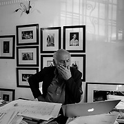 Mexico City, Mexico, January 5, 2018. The English composer Michael Nyman in his house in Mexico City.