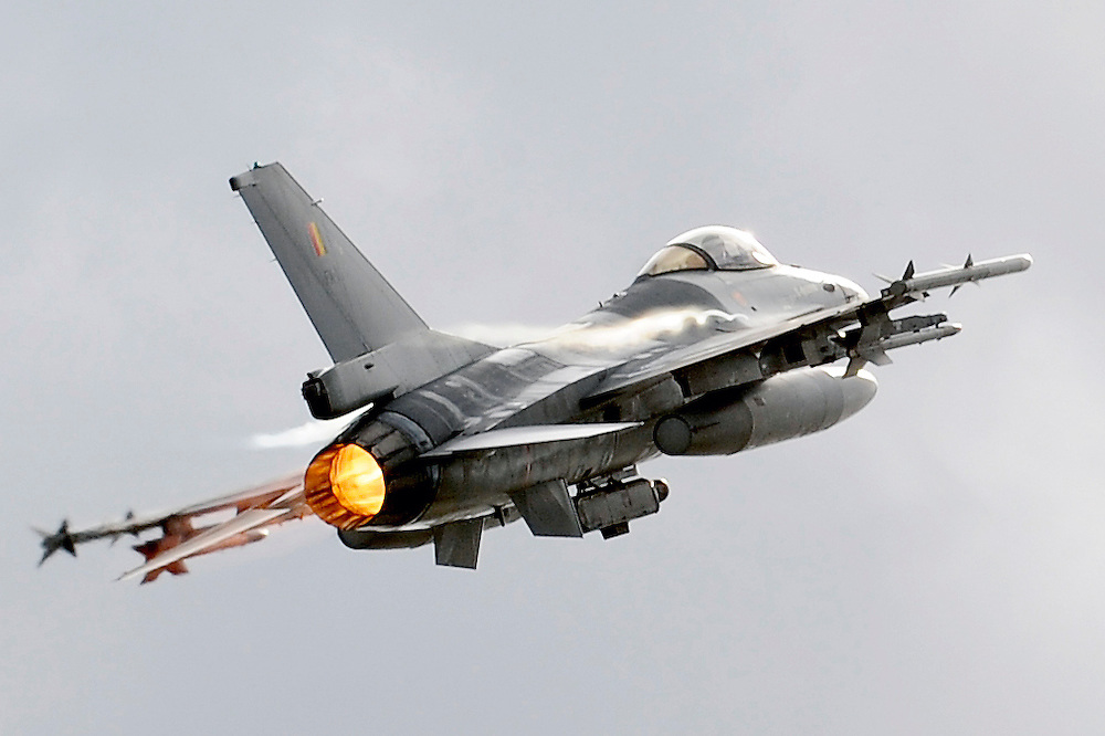 """Kleine Brogel, Belgium 14 March 2008<br /> 31 Tiger squadron of the Belgian Air Force. <br /> The primary task of the squadron is taking out ground targets by 'dumb' unguided bombs or by precision bombardments, this during day and night.<br /> Also a great part of training is dedicated to """"air-to-air engagements"""" (intercepting / destroying of hostile aircraft), to be able to operate under every conflict-scenario.<br /> Photo: Ezequiel Scagnetti"""