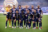 Team PSG poses before the French League Cup (Coupe de la Ligue) final match between Paris Saint-Germain (PSG) and Olympique Lyonnais (OL, Lyon) on July 31, 2020 at the Stade de France, in Saint-Denis, near Paris, France - Photo Juan Soliz / ProSportsImages / DPPI