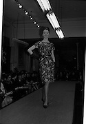 09/03/1964<br /> 03/09/1964<br /> 09 March 1964<br /> McBirney's Fashion show at McBirney's, Aston Quay, Dublin. Image shows model Madge wearing Floral dress and gloves.