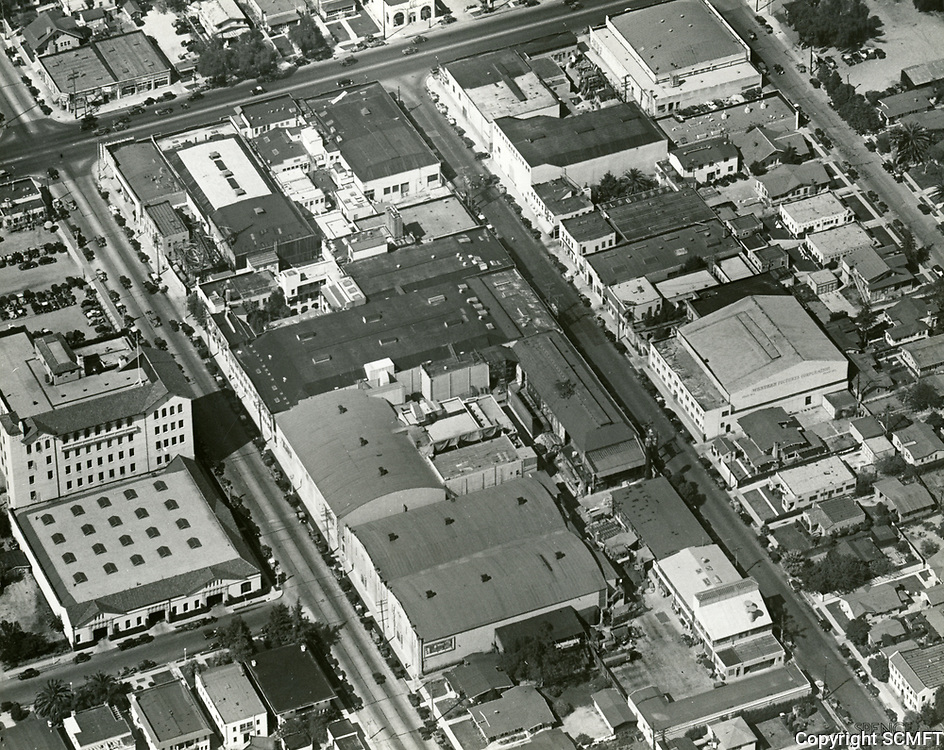 1935 Aerial photo of Columbia Studios