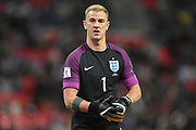 England goalkeeper Joe Hart during the FIFA World Cup Qualifier match between England and Slovenia at Wembley Stadium, London, England on 5 October 2017. Photo by Martin Cole.