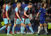 Football - 2018/ 2019 Premier League - Chelsea vs Burnley<br /> <br /> Burnley goalscorer, Ashley Barnes celebrates their 2-2 draw at the final whistle at Stamford Bridge<br /> <br /> Colorsport  / Andrew Cowie