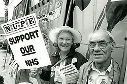 NHS demo Derby UK 1988