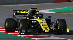 Renualt's Nico Hulkenberg during day one of pre-season testing at the Circuit de Barcelona-Catalunya.