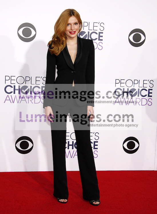 Bella Thorne at the 41st Annual People's Choice Awards held at the Nokia L.A. Live Theatre in Los Angeles on January 7, 2015. Credit: Lumeimages.com