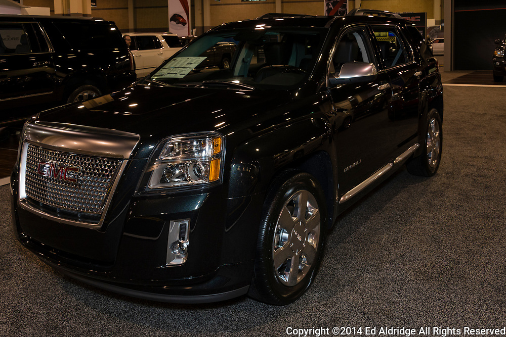 CHARLOTTE, NORTH CAROLINA - NOVEMBER 20, 2014: GMC Terrain on display during the 2014 Charlotte International Auto Show at the Charlotte Convention Center.