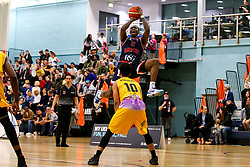 Fred Thomas of Bristol Flyers shoots - Photo mandatory by-line: Robbie Stephenson/JMP - 10/04/2019 - BASKETBALL - UEL Sports Dock - London, England - London Lions v Bristol Flyers - British Basketball League Championship