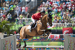 Valdez Prado Alonso, PER, Chief<br /> owner of the horse of Jerome with arms in the air<br /> Olympic Games Rio 2016<br /> © Hippo Foto - Dirk Caremans<br /> 14/08/16