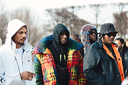 Street Style, Skepta and friends arriving at Off-White Menswear Fall Winter 2019 ready-to-wear show, held at Paris Fashion Week, on January 16th, 2019. Photo by Mila Belrose/ABACAPRESS.COM