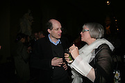 ALAIN DE BOTTON AND PHILIPPA PERRY, V and A celebrates 150th anniversary. V and A. London. 26 June 2007.  -DO NOT ARCHIVE-© Copyright Photograph by Dafydd Jones. 248 Clapham Rd. London SW9 0PZ. Tel 0207 820 0771. www.dafjones.com.