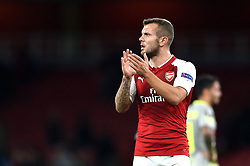 Jack Wilshere of Arsenal applauds the crowd after the match - Mandatory by-line: Patrick Khachfe/JMP - 14/09/2017 - FOOTBALL - Emirates Stadium - London, England - Arsenal v Cologne - UEFA Europa League Group stage