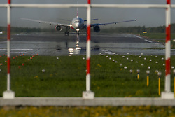 May 28, 2017 - The Boeing 777-300 widebody civil jet airplane of Rossiya Airlines departs Vnukovo Airport, Moscow, Russia  (Credit Image: © Russian Look via ZUMA Wire)
