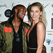 Stefan-Pierre Tomlin and Lilly Douse Arrivers at Nina Naustdal catwalk show SS19/20 collection by The London School of Beauty & Make-up at Bagatelle on 26 Feb 2019, London, UK.
