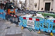 Installation of fibre broadband in central London on 29th January 2021 in London, United Kingdom. Superfast broadband infrastructure is seen as an essential utility in the modern day and more and more is being rolled out across the city.