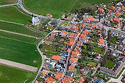 Nederland, Noord-Holland, Texel, 16-04-2012; Den Hoorn met kerkje (Nederlands Hervormd).Village of Den Hoorn on the isle of Texel..luchtfoto (toeslag), aerial photo (additional fee required);.copyright foto/photo Siebe Swart