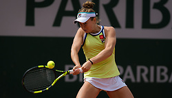 May 22, 2019 - Paris, FRANCE - Francesca Di Lorenzo of the United States in action during the first qualification round at the 2019 Roland Garros Grand Slam tennis tournament (Credit Image: © AFP7 via ZUMA Wire)