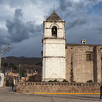 The church in Cabanaconde, near the Plaza de Armas. If you want to watch the condors soaring in the early morning sky at Cruz del Condor, the village of Cabanaconde is the best place for an overnight stay.