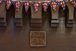 Details on the front of Windsor Castle made entirely out of chocolate at Cadbury World in Birmingham, ahead of the royal wedding this weekend.