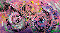 abstract multicolored swirls: abstract art on multicolored background with pink shades