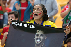 June 3, 2017 - Lisbon, Portugal - A fan of Portugal's forward Andre Silva reacts during the friendly football match Portugal vs Cyprus at Antonio Coimbra da Mota Stadium in Estoril, outskirts of Lisbon, Portugal on June 3, 2017. (Credit Image: © Pedro Fiuza/NurPhoto via ZUMA Press)
