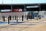 Ferry terminal building for Catamaran Bahia service, maritime public transport, Cadiz, Spain