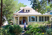 Nicely xeroscaped yard in the Historic Old North End neighborhood of Colorado Springs