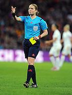 Referee Esther Staubli (SUI)<br /> - Womens International Football - England vs Germany - Wembley Stadium - London, England - 23rdNovember 2014  - Picture Robin Parker/Sportimage