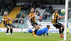 Yeovil Town's Gozie Ugwu goes close - Photo mandatory by-line: Harry Trump/JMP - Mobile: 07966 386802 - 25/04/15 - SPORT - FOOTBALL - Sky Bet League One - Yeovil Town v Port Vale - Huish Park, Yeovil, England.